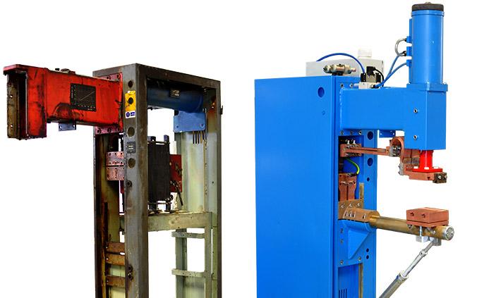 Repasovaný zvárací stroj - obnovený rám